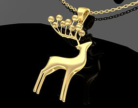 3D printable model Deer Jewelry Pendant Gold