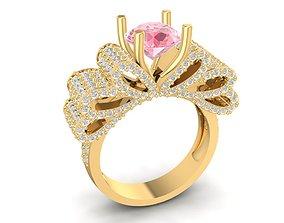 3D print model diamond bow ring 1560