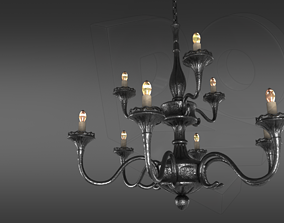 3D model Wrought iron ceiling chandelier