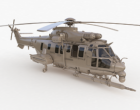 animated Eurocopter EC 725 Clay High Detail 3ds max Vray