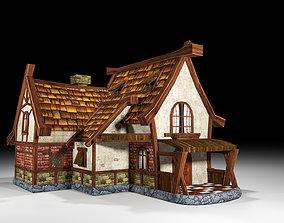 medieval old house 3D asset