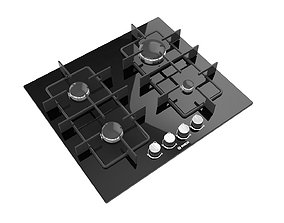 3D asset Gas Cooktop no4
