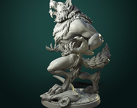 Furious Werewolf 2 variants 3D printable model