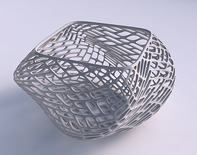 Bowl helix with lattice tiles 3D printable model