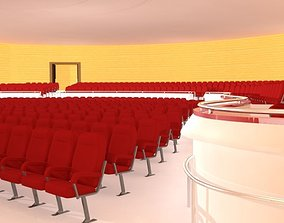3D seating Concert Hall Interior - Concert Stage