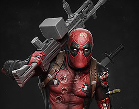 Deadpool statue 3D printable model