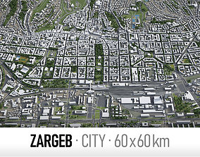 3D model Zagreb - city and surroundings