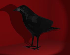 3D printable model Low Poly Crow