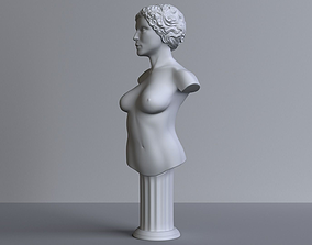3D print model body female-bust