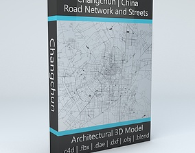 Changchun City Road Network and Streets 3D