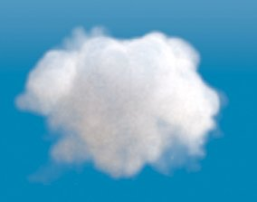 Realistic 3d cloud voxel grid animated