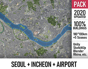 Seoul - Incheon - ICN Airport - Metropolitan Area 3D