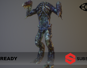 Alien PBR Game Character with LOD 3D model