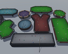 3D model Set of tables for billiards