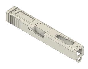 3D print model Glock 18C AEP Cyma airsoft slide 3