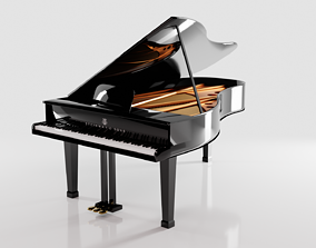 Black Grand Piano Steinway and Sons 3D model models