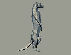 3D printable model Meerkat Low Poly