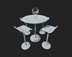 3D model Futuristic Table Set