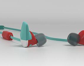 3D model Fitbit Flyer Earphones