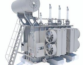 Power transformer 3D asset low-poly