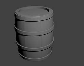 Barrel 3D model tub