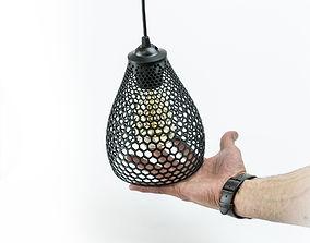 LampiON shade 3D printable model hexagon