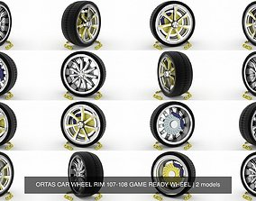 3D model ORTAS CAR WHEEL RIM 107-108 GAME READY WHEEL