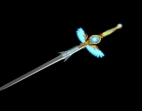 3D model Angel sword