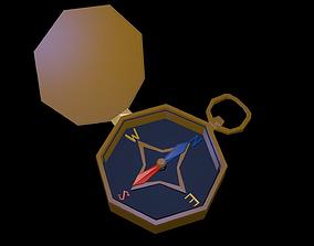 3D asset Low poly compass