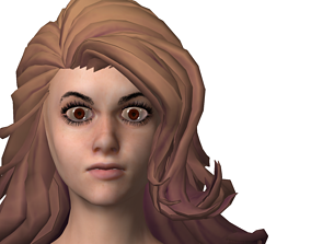 3D model rigged Anime Girl