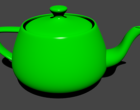 Green Teapot 3D