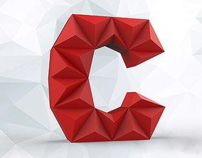 3D print model Lowpoly letter C