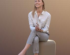 Ramona 10282 - Sitting Business Woman 3D asset