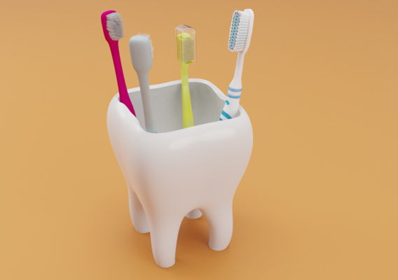 Tooth Toothbrush Holder