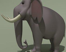 3D model Animated Cartoon Elephant
