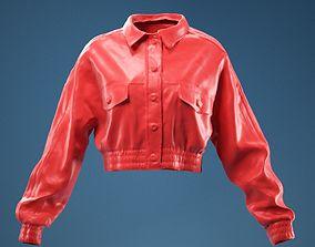 2 Stripe Jacket Leather Closed 3D
