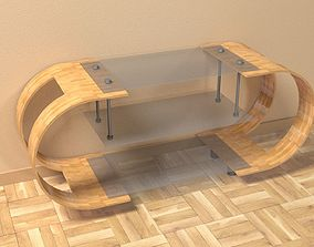 TV Table 3D model realtime