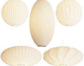 3D model George Nelson Bubble Pendant Lamps