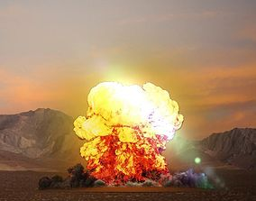 animated FumeFx Heavy Explosion Element Asset File for 3