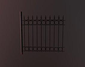 Metallic Low Wall 3D model