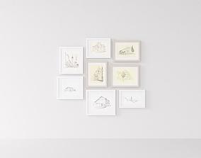 Picture Frames Sketch 3D model