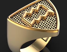 3D print model Zodiac Aquarius ring