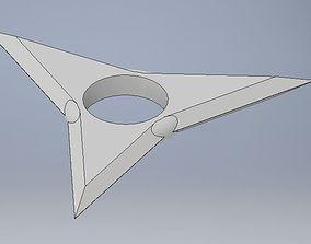 Shuriken Fidget Spinner Body 3D print model