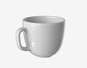 Low-poly Porcelain Cup 3D model