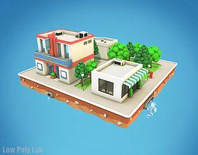 Cartoon City Block Cinema 3D asset