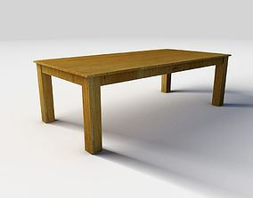 3D Wooden coffee table architectural