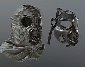 Gas Mask m17a1 3D model