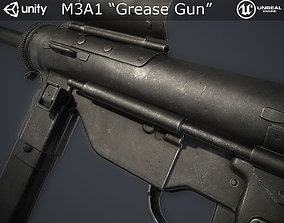 3D model low-poly M3A1 Grease Gun