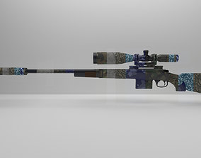 3D model VR / AR ready M24 Sniper Rifle