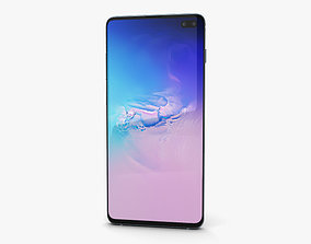 3D model Samsung Galaxy S10 Plus Prism Blue
